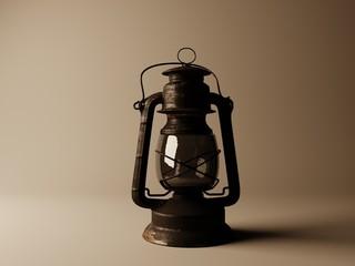 visualization of kerosene lamp 3D illustration