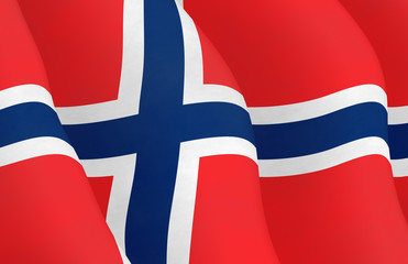 Illustraion of Norwegian Flag