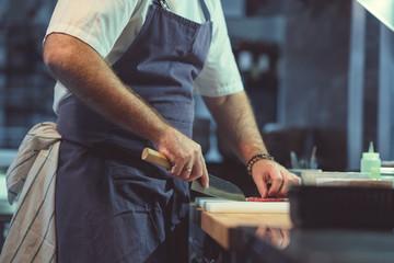 Working man in the kitchen