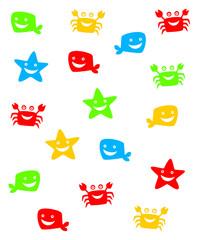 cute marine wallpaper vector