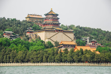 Emperor's Summer Palace, Beijing, China. View from the lake
