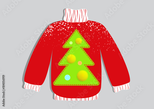 ce95a013c6 Cute ugly Christmas sweater vector