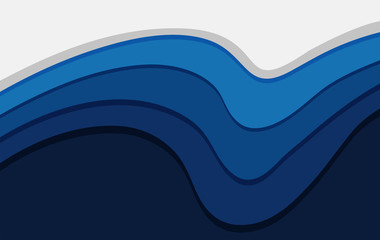Background template with blue wavy lines