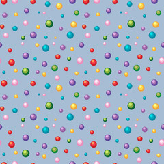 Seamless background template with colorful balls