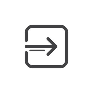 Account log in line icon, outline vector sign, linear style pictogram isolated on white. Enter symbol, logo illustration. Thick line design. Pixel perfect vector graphics