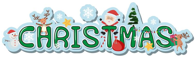 Word design for christmas