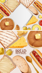 Two background design with bread