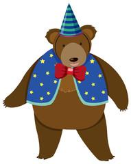 Circus bear in costume