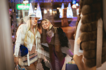 Two Girl In The Shopping