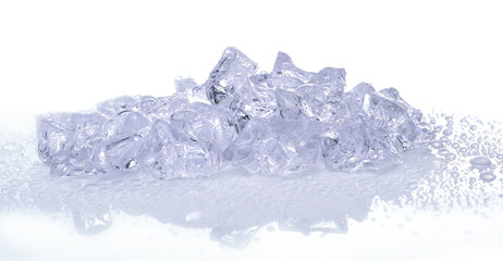 ice cubes with water