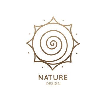 Logo sun is spiral