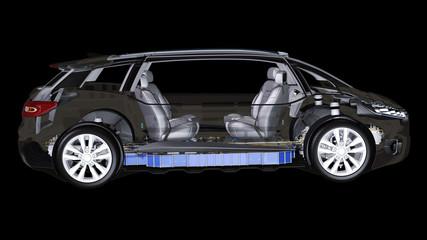 Innenansicht eines autonom fahrenden PKW