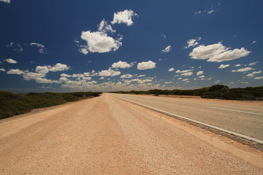 Impressions of unpaved outback roads of australia