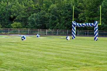 Goal Post and Balloons