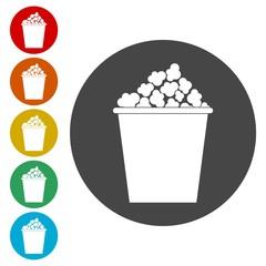 Popcorn icon, Cinema icon