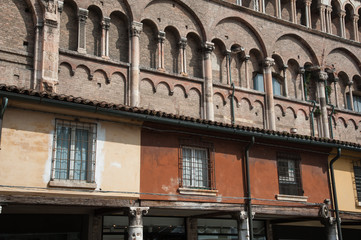 A side of the Ferrara cathedral
