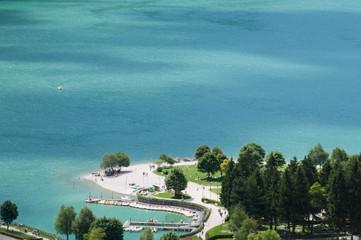 The lake of Molveno, Trento