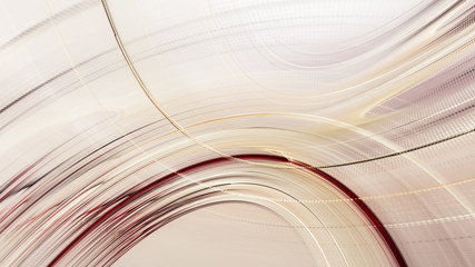 Abstract red gold on white background texture. Dynamic curves ands blurs pattern. Detailed fractal graphics. Science and technology concept.