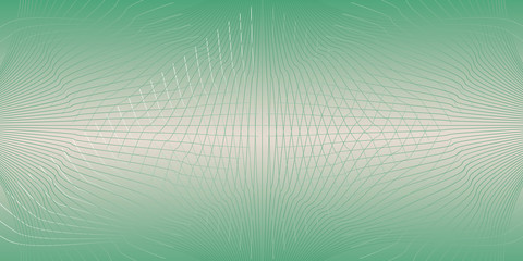 green interwoven lines on a green gradient