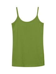 Khaki underwear sleeveless empty summer t shirt camisole isolated on white