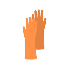 Flat icon of rubber glove