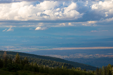 New Mexico valley from Sandia Mountain