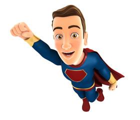 3d superhero flying
