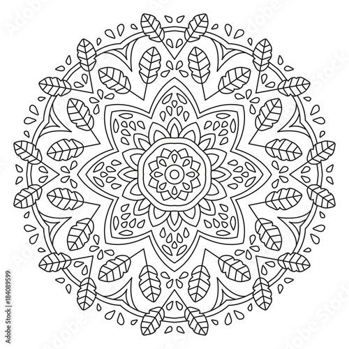 Mandala Shape for Coloring. Vector Mandala. Floral. Flower. Oriental ...