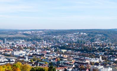 Panorama von Pforzheim in Baden-Württemberg