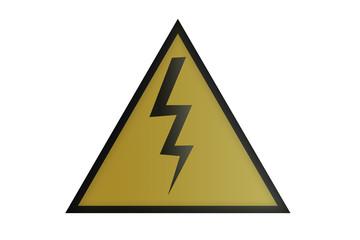 Señal de precaución electricidad. Fototapete