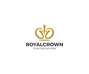 Royal Crown Logo Template. Diadem Vector Design. Coronet Illustration