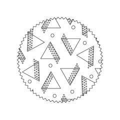 line circle with geometric style figures background