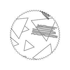 line circle with geometric figure stye background
