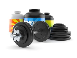 Dumbbell with supplements