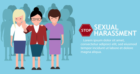 Sexual harassment poster with women