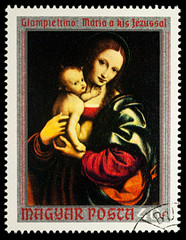 """Painting """"Virgin and Child"""" by Giampetrino"""