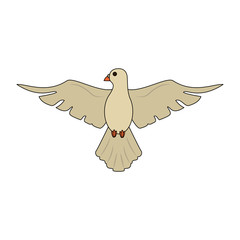 Dove bird cartoon icon vector illustration graphic design