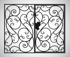Vector illustration products of steel and iron.