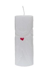 Decorative candle on a white background