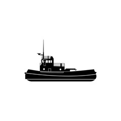 towboat icon. Water transport elements. Premium quality graphic design icon. Simple icon for websites, web design, mobile app, info graphics