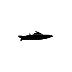 powerboat icon. Water transport elements. Premium quality graphic design icon. Simple icon for websites, web design, mobile app, info graphics