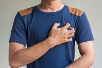 asian men have chest pain