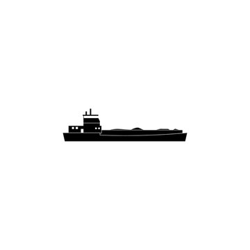 barge ship icon. Water transport elements. Premium quality graphic design icon. Simple icon for websites, web design, mobile app, info graphics