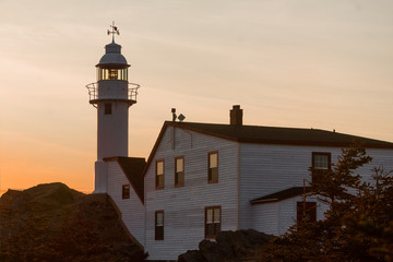 sunset, Lobster Cove Head Lighthouse