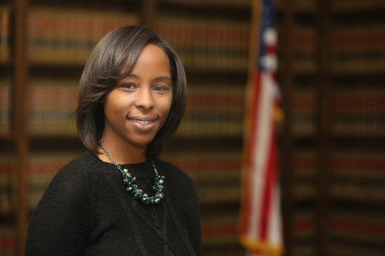 Young attractive African American woman, women in politics