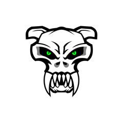 skull of Cat Head mascot vector illustration