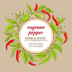 cayenne pepper frame