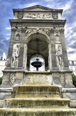 Fountain of the Innocents in Paris, France.