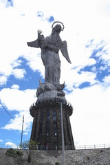 The monument of the Virgin Mary on the hill of Panecillo, Quito, Ecuador