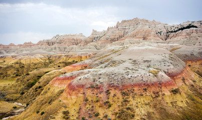 Rock Formations Badlands National Park Rural South Dakota